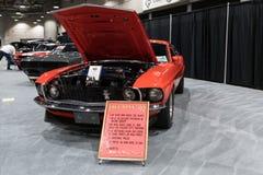 在显示的Ford Mustang上司302在LA车展期间 图库摄影