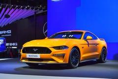 在显示的Ford Mustang汽车在第35泰国国际M 免版税库存照片