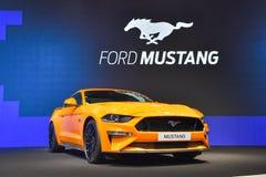 在显示的Ford Mustang汽车在第35泰国国际M 图库摄影