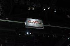 在显示的GMC商标 免版税图库摄影