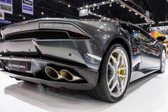 在显示的Lamborghini Huracan在第37个曼谷国际汽车展示会 免版税库存照片