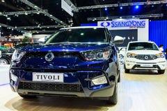 在显示的SsangYong Tivoli在第37个曼谷国际汽车展示会 库存图片