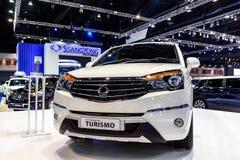 在显示的SsangYong Turismo在第37个曼谷国际汽车展示会 库存照片