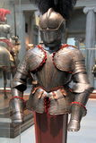 在显示,克利夫兰美术馆,俄亥俄的骑士的装甲, 2016年 免版税图库摄影