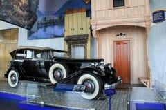 1932年在显示, NYSM,阿尔巴尼,纽约的帕卡德敞蓬旅游车, 2015年 免版税库存照片