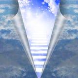 在显露的天空的楼梯 库存例证