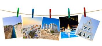 在晒衣夹的希腊摄影 库存照片