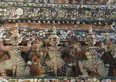 在晓寺墙壁上的巨人  免版税库存图片