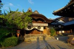 在晚上光京都日本的寺庙 免版税库存图片