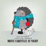 在晚上小心驾驶 免版税库存照片
