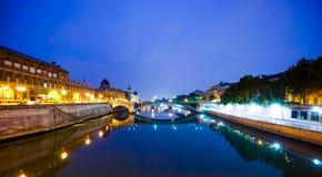 巴黎在晚上 免版税库存图片