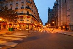 巴黎在晚上 免版税库存照片