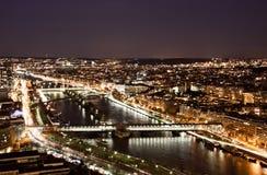 巴黎在晚上 免版税图库摄影