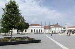 在晨曲卡罗来纳州堡垒里面,阿尔巴尤利亚,罗马尼亚 免版税库存图片