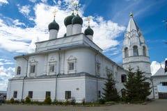 在普列谢耶沃湖附近的Nikitsky修道院 库存图片