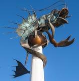 在普利茅斯Myflower步Leviatan的口岸 库存图片