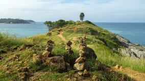 在普吉岛海岛的Phromthep海角在Rawai海滩附近,南部泰国 库存照片