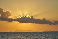 在普吉岛的日落 免版税库存图片