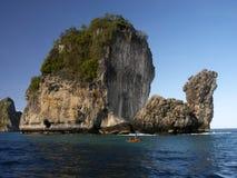 在普吉岛-泰国附近的Phangnga海湾 免版税库存图片