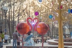 在普希金广场的火鸟,莫斯科 免版税库存照片