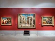 绘画在普希金陈述艺术博物馆  免版税库存图片