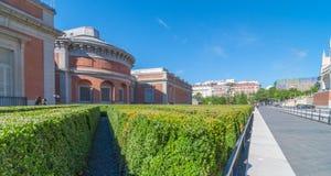 在普拉多全国美术馆后,在中央马德里,西班牙 免版税库存图片