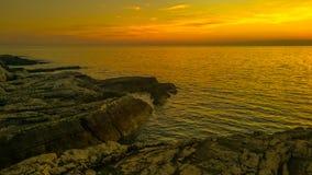在普拉海湾5的日落 免版税库存照片