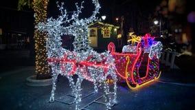 在普拉的圣诞节精神 免版税库存图片
