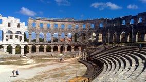 在普拉的罗马斗兽场 免版税图库摄影