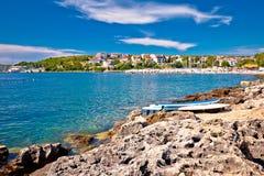 在普拉靠岸和海岸线视图附近的Pjescana Uvala 免版税库存照片