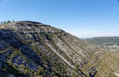 在普腊亚Jurassica附近的风景 免版税库存图片