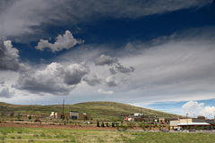 在普里斯科特谷,亚利桑那的登上Baldy 免版税库存照片