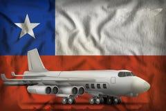 在智利州旗子背景的轰炸机 3d例证 向量例证