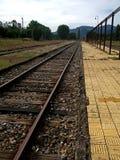 在智利的南部的老火车站 免版税库存照片