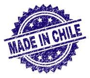 在智利邮票封印做的被抓的织地不很细 皇族释放例证