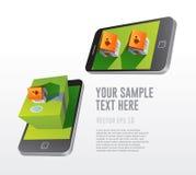 在智能手机的房地产app 免版税库存照片