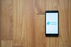在智能手机的Internet Explorer 免版税图库摄影