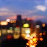 在暮色时间的曼谷都市风景 免版税库存照片