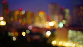 在暮色时间的曼谷都市风景 图库摄影