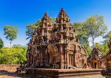 在暹粒,柬埔寨的Banteay Srei 库存照片