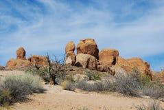 在曲拱国家公园,犹他的岩石 库存图片