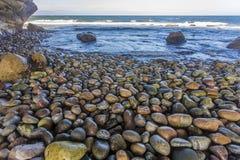 在曲拱的光滑的岩石,纽芬兰 库存照片