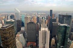 在曼哈顿岩石顶视图之上 库存照片