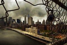 在曼哈顿的挂锁 免版税库存图片