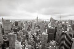 在曼哈顿的鸟瞰图 免版税图库摄影