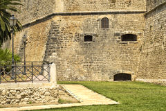 在曼弗雷多尼亚城堡- Gargano -普利亚附近 库存照片