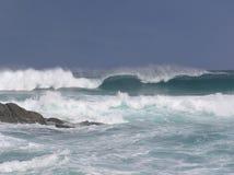 在曼德勒海滩的海浪 免版税库存照片