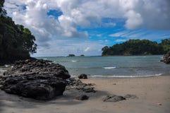 在曼纽尔安东尼奥国家公园,哥斯达黎加的海滩 库存照片