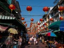 在曼谷中国镇 免版税库存照片