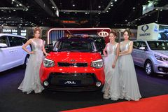 在曼谷国际泰国汽车展示会的起亚灵魂2017年 免版税库存图片